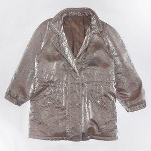 Jackets & Blazers - 1980's Metallic Puffer Jacket in Silver